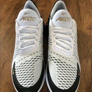Nike Air Max 270 WhiteGoldBlack Men's Sz 9.5 10 NWT